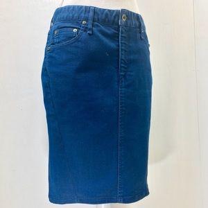Rag & Bone Midi Denim Skirt. 28